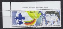 Europa Cept 2007 Greece  2 Normal Values   ** Mnh (34824A) - Europa-CEPT