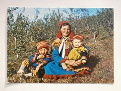 Postcard Finnmark North Norway Norge Samer Lapps My Ref B2432 - Norwegen