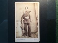 CDV Foto 1869 HEINRICH LAUTS In Militär Uniform Preußen Offizier (geb. 1849) Photo: Louis Koch Bremen Auf Der Brake 20 - Bremen