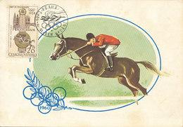 D28916 CARTE MAXIMUM CARD 1965 CZECHOSLOVAKIA - OLYMPICS HORSE JUMPING CP ORIGINAL
