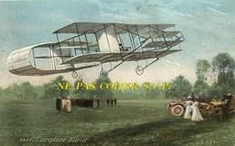 """Aviation - Aéroplane """" Blériot """" (biplan En Vol, Animation Et Automobiles)  -  (787) - ....-1914: Précurseurs"""