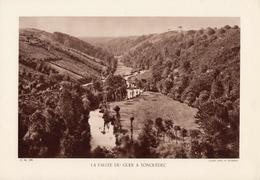 CÔTE D'ARMOR, LA VALLEE DU GUER A TONQUEDEC, Planche Densité = 200g, Format 20 X 29 Cm, (L. L.) - Géographie