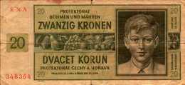 BOHEME MORAVIE 20 KORUN Du 24-1-1944  Pick 9 - [ 4] 1933-1945 : Third Reich