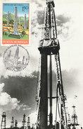 D28927 CARTE MAXIMUM CARD TRIPLE 1978 ROMANIA - OIL DRILLING CP ORIGINAL
