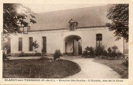 CPA BLANGY SUR TERNOISE. Hospice Sainte Berthe, L'entrée, Vue De La Cour. 1944 - Altri Comuni