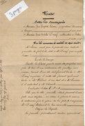 VP9037 - Acte De 1920 - Entre LIEVIN & DUCERF à VILLIERS Vente De Terre Situé à CONGIS - Manuscripts
