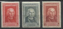 Espagne PA N° 70 à 72 Neufs Avec Charnière De 1930 POSTE AERIENNE Christophe Colomb - Neufs