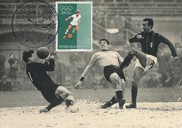 D28930 CARTE MAXIMUM CARD 1960 SAN MARINO - SOCCER PLAYER OLYMPICS CP ORIGINAL - Soccer