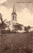 CPA - VECOUX (88) - Aspect Du Quartier De L'Eglise En 1923 - Francia