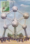 D28932 CARTE MAXIMUM CARD 1958 SAN MARINO - WORLD EXPO BRUSSELS CP ORIGINAL