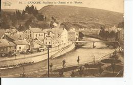 LAROCHE   Panorama Du Chateau Et De L'Ourthe