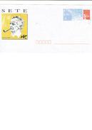 Enveloppe Entier Postale Neuve De FRANCE SETE - Georges BRASSENS [dessin] / Son Effigie / Sa Pipe