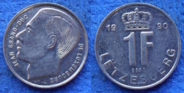 LUXEMBOURG - 1 Franc 1990 KM# 63 Jean (1964-2001) - Edelweiss Coins - Luxembourg