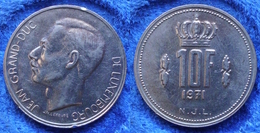 LUXEMBOURG - 10 Francs 1971 KM# 57 Jean (1964-2001) - Edelweiss Coins - Luxembourg