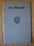 2. Weltkrieg, Der Ahnenpaß 48 Seiten Mit Vielen Eintragungen Und Gebührenmarke Der Stadt Düsseldorf !! - 1939-45
