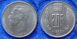 LUXEMBOURG - 20 Francs 1983 KM# 58 Jean (1964-2001) - Edelweiss Coins - Luxembourg