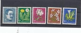 Suisse - Neufs**  -  Pro Juventute - Année 1960 - YT 668/672