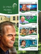 TOGO 2014 - Nobel Prize In Physics - YT 4314-7; CV = 17 €