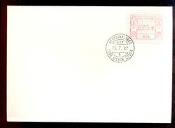 COVER PORTUGAL * 010 - 1298 LISBOA CEDEX * RESTAURADORES * 025.0 * 1987 * LABEL ATM FRAMA - Automatenmarken (ATM/Frama)
