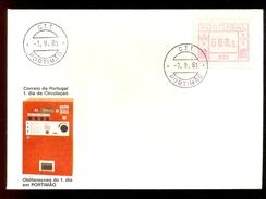 FDC PORTUGAL 001 PORTIMAO * 008.5 * 1981 * LABEL ATM FRAMA - Frankeervignetten (ATM/Frama)
