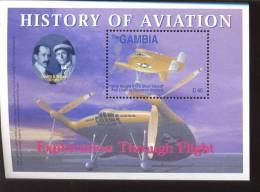 MINT NEVER HINGED SOUVENIR SHEET OF AVIATION  # 196-4  ( GAMBIA  2750 - Vliegtuigen