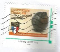 Timbre Personnalisé Collector Oblitéré Sur Lettre Les Sportifs Français Dans La Grande Guerre Lorraine