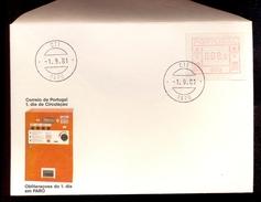 FDC PORTUGAL 003 FARO * 008.5 * 1981 * LABEL ATM FRAMA - Frankeervignetten (ATM/Frama)