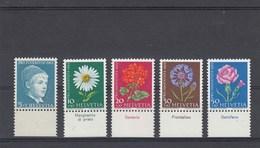 Suisse - Neufs**  -  Pro Juventute - Année 1963 - YT 721/725