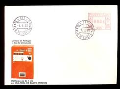 FDC PORTUGAL 005 VILA REAL DE SANTO ANTONIO * 008.5 * 1981 * LABEL ATM FRAMA - Frankeervignetten (ATM/Frama)