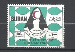SUDAN  1989   30 ANNIV. CROCCE ROSSA DEL SUDAN   YV. 363 USED - Sudan (1954-...)