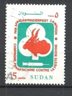 SUDAN 1991 Fight Against Cattle Ticks     USED - Sudan (1954-...)