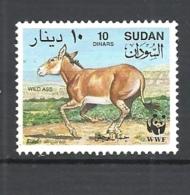 SUDAN  1994 Worldwide Nature Protection - African Wild Ass  WWF 431 USED - Sudan (1954-...)