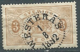 """Suede Service     - Yvert N° 1 A (    Oblitéré   """" Westeras En 1892   -  Cw22516 - Service"""