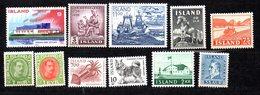 Islande Lot De Timbres XX/MNH - Collections, Lots & Séries