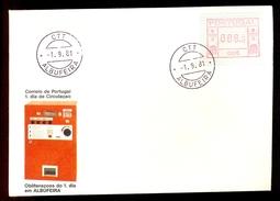FDC PORTUGAL 006 ALBUFEIRA * 008.5 * 1981 * LABEL * ATM * FRAMA - ATM/Frama Labels