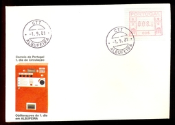 FDC PORTUGAL 006 ALBUFEIRA * 008.5 * 1981 * LABEL * ATM * FRAMA - Frankeervignetten (ATM/Frama)