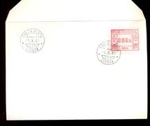 COVER PORTUGAL FIRST DAY CANCEL * 004 SANTA MARTA LISBOA * 008.5 * 1981 * LABEL ATM FRAMA - Frankeervignetten (ATM/Frama)