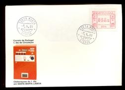 FDC PORTUGAL * 004 SANTA MARTA LISBOA * 033.5 * 1981 * LABEL ATM FRAMA - Frankeervignetten (ATM/Frama)
