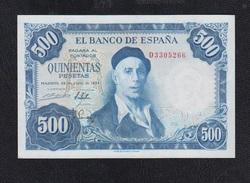 EDIFIL D69b.   500 PTAS 22 DE JULIO DE 1954.   IGNACIO ZULOAGA.  SERIE D - [ 3] 1936-1975: Regime Van Franco