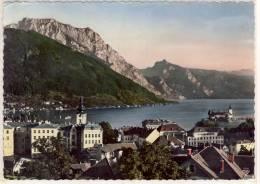 GMUNDEN - Panorama Mit Schloß ORTH, Traunstein , Riesenkarte, Gel. 1962 - Gmunden