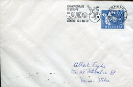 18468 Switzerland, Special Postmark 1963 Geneve,  Judo European Champ.   Circuled Cover