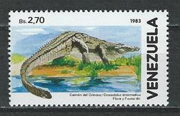 Venezuela Mi 2359 ** MNH Crocodylus Intermedius