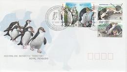 Antarctique - AUSTRALIE AAT - 2008 WWF - Royal Penguin (Gorfou De Schleigel) 1er Jour Macquarie