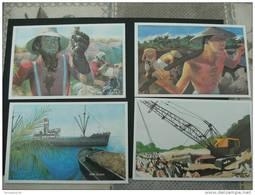 Nauru  6 Postale Stationary Cards Phosphate Corporation 17th. Anniv. Of The 1st. Shipment Of Phosphate