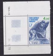 TAAF 1979 Otarie 1v  (corner, Printing Date) ** Mnh (34827C) - Franse Zuidelijke En Antarctische Gebieden (TAAF)