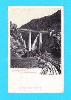 E-Suisse-264P GORNERGRATBAHN, Die Findelenbachbrücke, Train Sur Le Pont, Cpa Précurseur (état) - VS Wallis