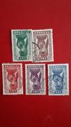 SENEGAL:Colonies Francaise 1938  Timbres N°144 A 148 Série Complete Oblitérés - Used Stamps