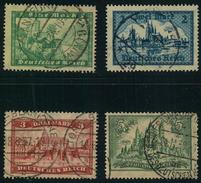 1924, Markwerte Bauwerke,gestempelt - Michel 364/367 , 35,-