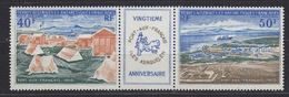 TAAF 1971 Port-aux-Francais Strip 2v + Label ** Mnh (34827F) - Franse Zuidelijke En Antarctische Gebieden (TAAF)