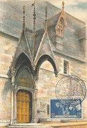 D28961 CARTE MAXIMUM CARD 1953 FRANCE - ENTRANCE L'HOTEL-DIEU BEAUNE CP ORIGINAL - Architecture